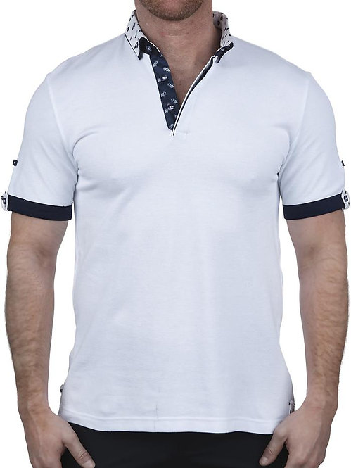 Mozart Solid Skull White Polo