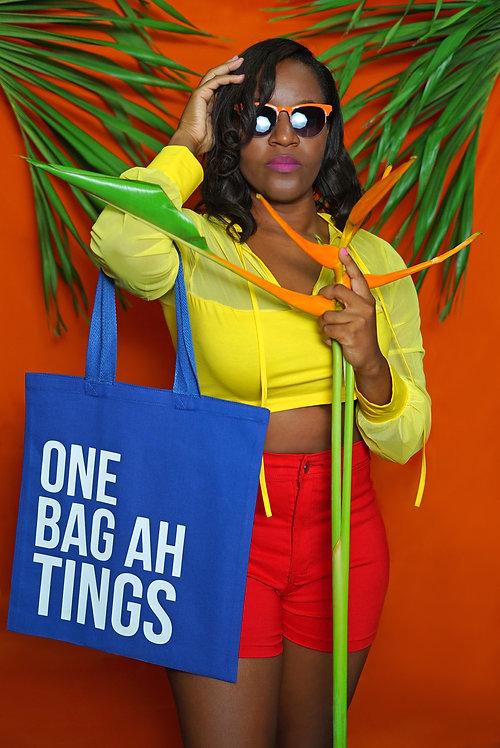 Blue & White One Bag Ah Tings Tote