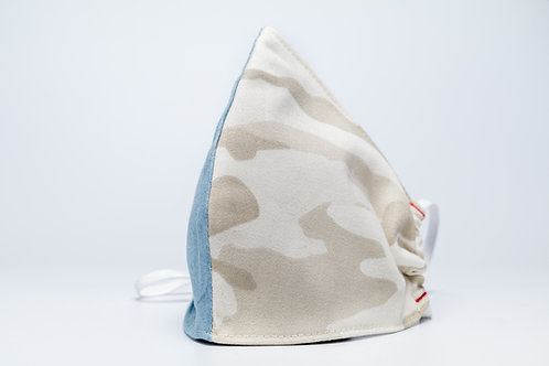 Colorblock Denim + Camo Mask - Pack of 3