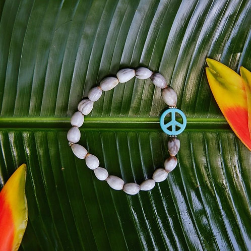 Peace Sign Blessing Bead