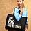 Thumbnail: Black & Solid Gold One Big Bag Ah Tings Tote