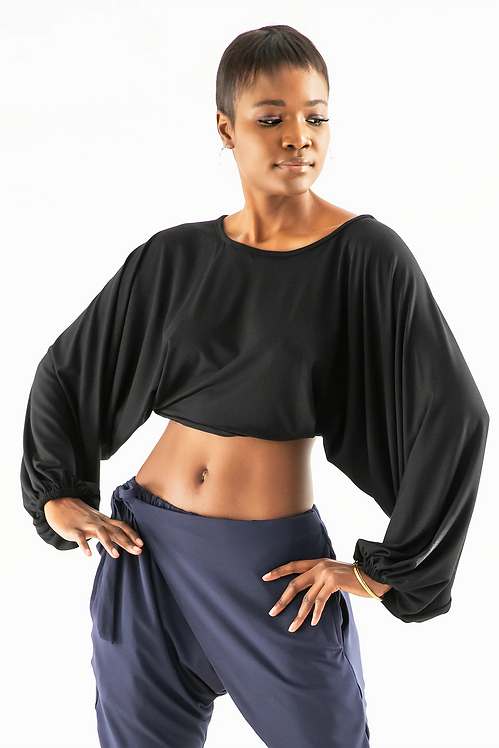 Bamboo Knit Cropped Sleeves