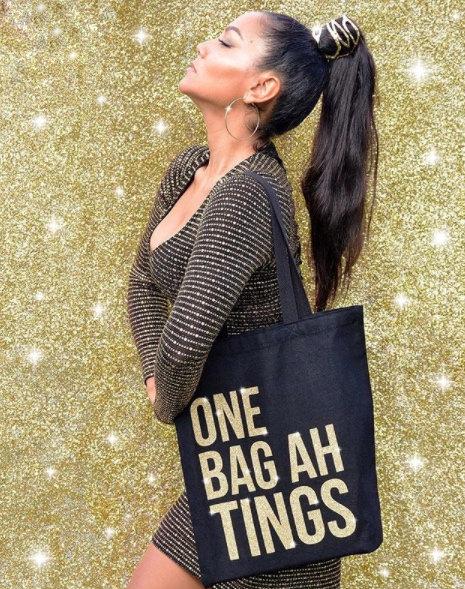 Gold Glitter One Bag Ah Tings Tote