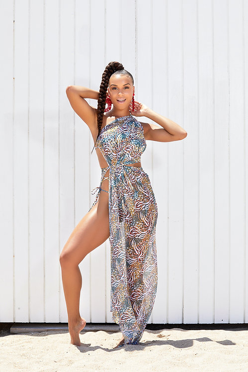 Runaway Bay Mesh Cover Up Dress