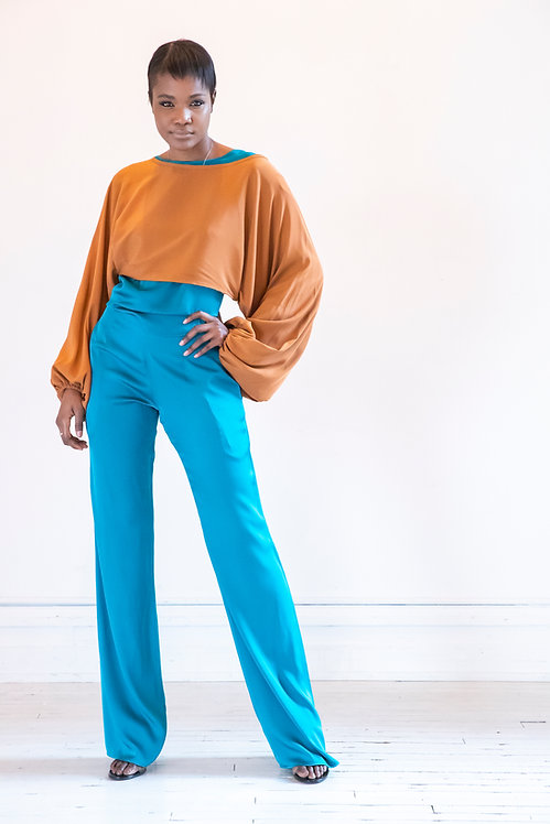 Silk Cropped Top