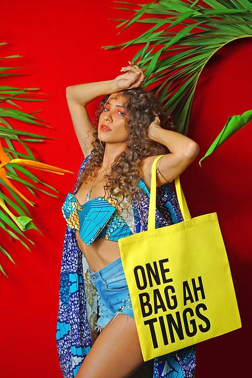 Yellow & Black One Bag Ah Tings Tote