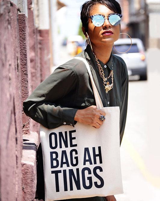Natural & Black One Bag Ah Tings Tote