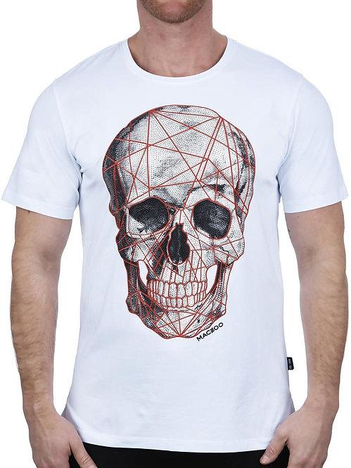 Red & White Skull Tee
