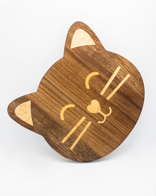 Cat Face Cheese Board