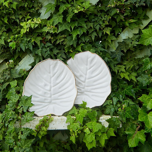 Flora Monstera Salad Plate