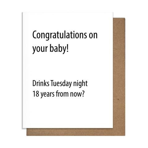 New Baby Drinks Card