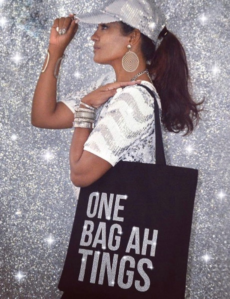Silver Glitter One Bag Ah Tings Tote
