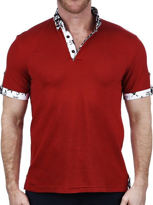 Mozart Solid Red Polo