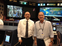 With Lead Flight Director at Mission Control