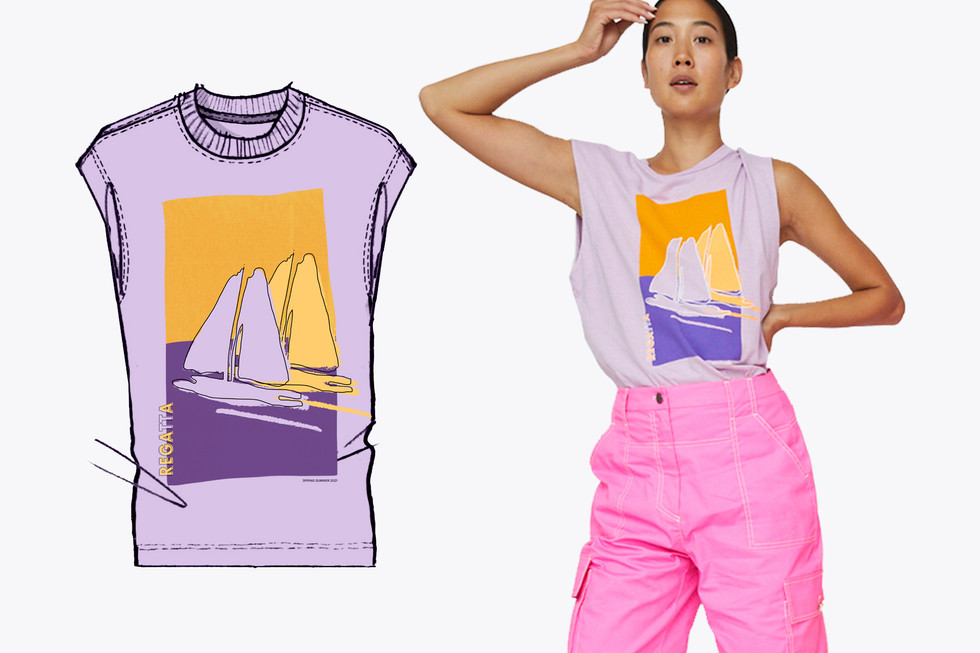 Printed T-shirt - orchid t.jpg