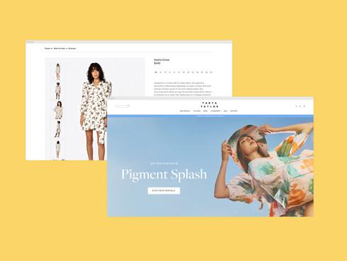 • Tanya Taylor Website Design