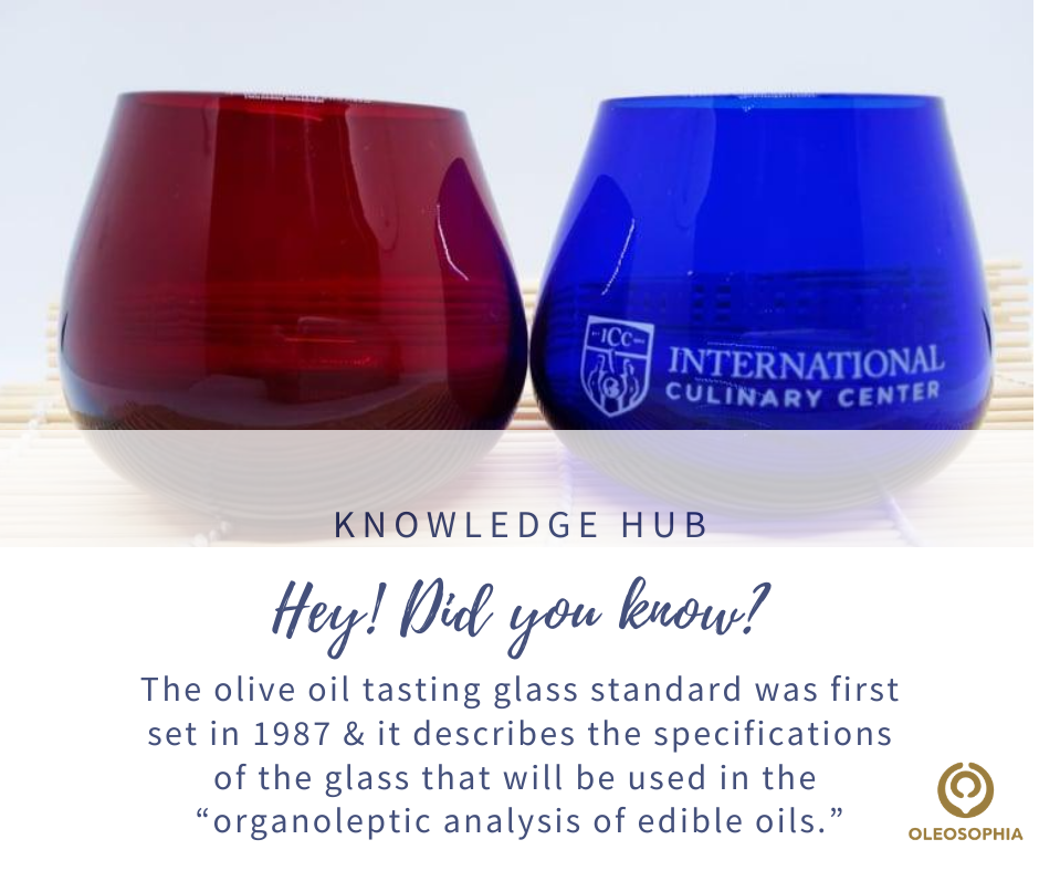 EVOO Tasting glasses info 1