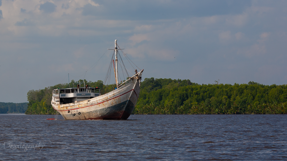 Typical Indonesian large fishing boat