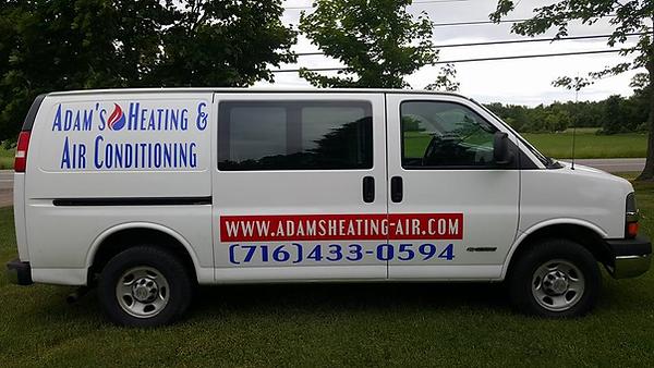 Adam's Heating & Air Conditioning Service Van