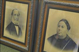 Ezra Davis Barned and third wife Sarah C