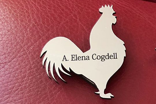 Rooster Name Tag