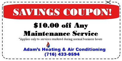 $10.00 off Service Coupon for Adam's Heating & Air Conditioning