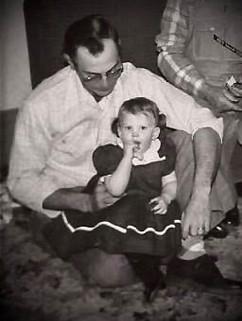 Bev Schuele and her father, Bill McBride