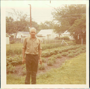 David J. Rigel and his garden.