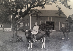 Elizabeth Burtless, at the family farm i
