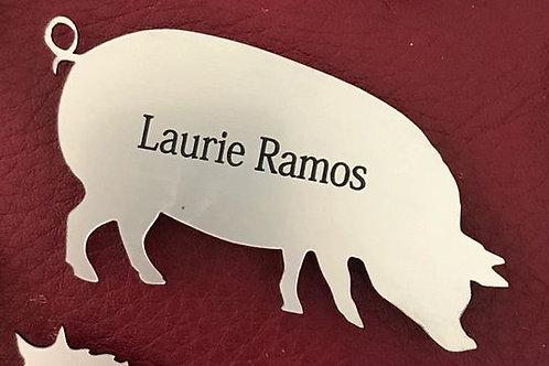 Pig Name Tag