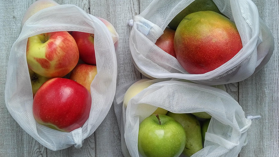 Zero-Waste produce bags Set of 5 (3M/2L)