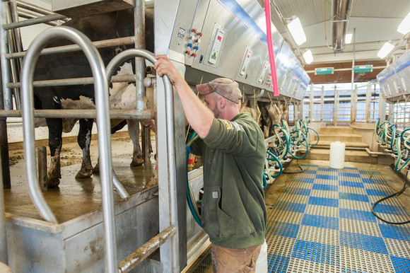 mage of equipment on a dairy in Maryland.  Image by Edwin Remsberg