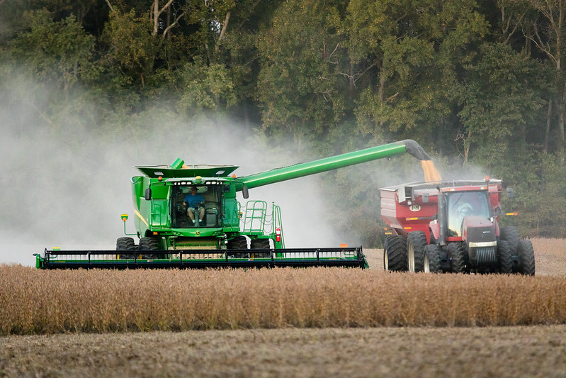 Grain harvest by Chesapeake Bay Program