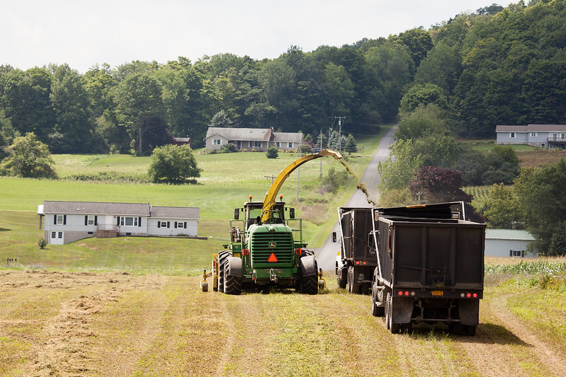 Image of hay being chopped by Chesapeake Bay Program
