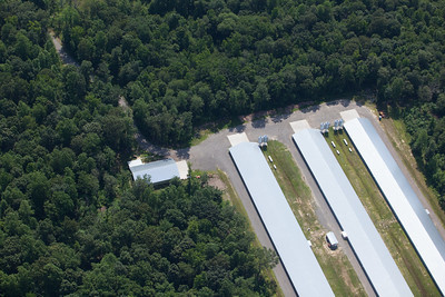 Aerial image of poultry barns by Chesapeake Bay Program