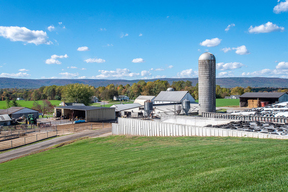 Image of dairy farm in Maryland by Edwin Remsberg.