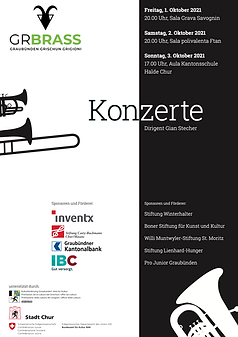 Programm Herbstkonzert Graubünden Brass