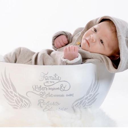 Babybauchschale mit Babyshooting