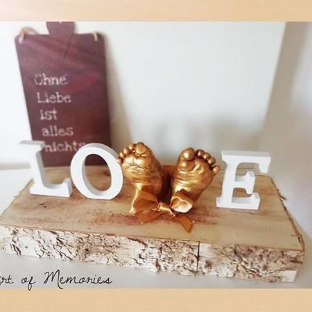 """Zwei Füßchen Babyset """"Love"""""""