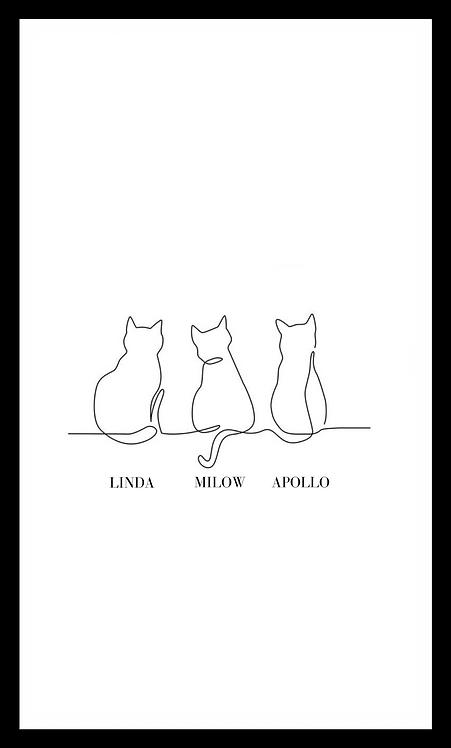 personalisierte Katzenposter