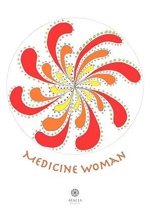 דפי מנדלות לצביעה - MEDICINE WOMAN