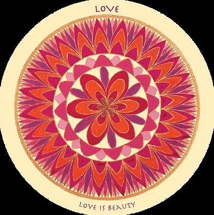 מדבקת מנדלה אהבה