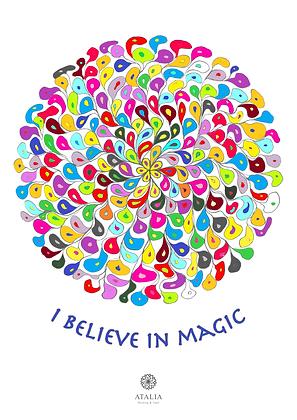 דפי מנדלות לצביעה - I BELIEVE IN MAGIC