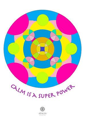 דפי מנדלות לצביעה - CALM IS A SUPER POWER