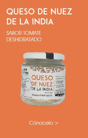 Queso Crema de Nuez de la India Tomate Deshidratado