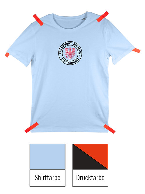 Frankfurt Luftkurort Shirt - Hellblau / Schwarz-Rot