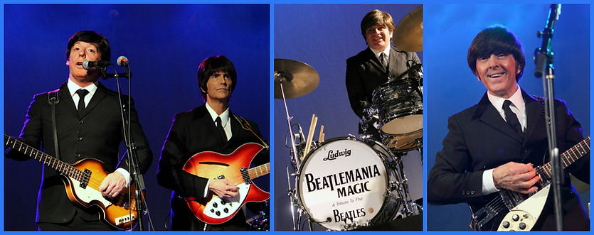Beatlemania, Beatles Tibute, John Lennon, George Harrison, Ringo, Paul McCartney