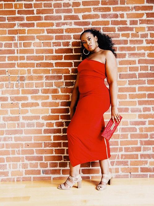 Cape Color Midi Dress