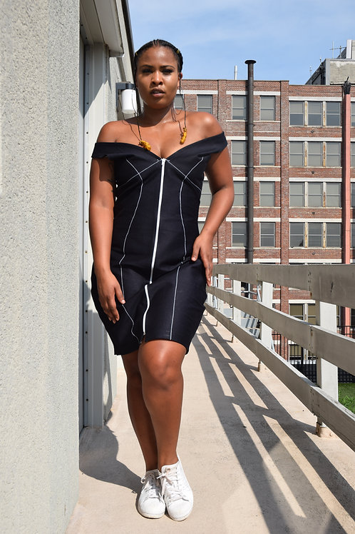 Black Keys Denim Dress