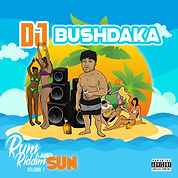dj bushdaka - rum riddim and sum vol. 1 cover art by luckitah art